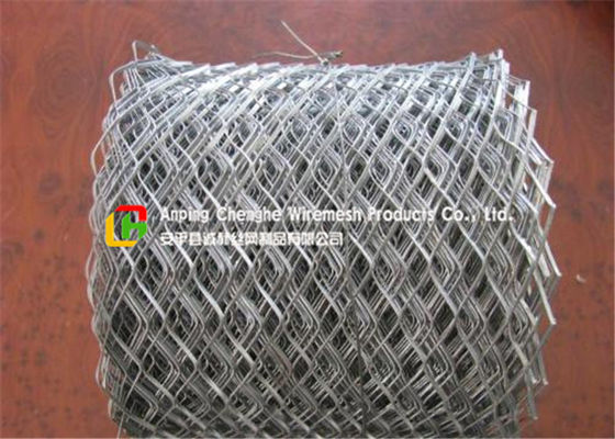 Lightweight Flattened Expanded Metal Mesh Low Carbon Steel Hot Dipped Galvanized